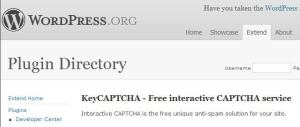 KeyCAPTCHA Plugin Contribution description in WordPress.org