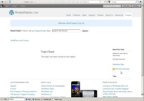 41 years age is attributed to posts though WordPress.com Contact or Forum Form