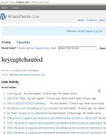 List Opened through URL (no recent posts)